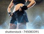sport  fitness  bodybuilding... | Shutterstock . vector #745083391