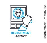 recruitment agency concept  ... | Shutterstock .eps vector #745089751