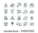 christmas and new year. winter... | Shutterstock .eps vector #745097005