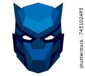 vector cartoon mask isolated on ... | Shutterstock .eps vector #745102495