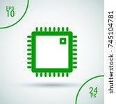 chip minimal vector icon....   Shutterstock .eps vector #745104781