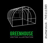 greenhouse construction frame.... | Shutterstock .eps vector #745111585