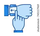 human finger touching the... | Shutterstock .eps vector #745117969