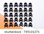 hallowen still life concet...   Shutterstock . vector #745131271