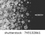 vector xmas snow effect with... | Shutterstock .eps vector #745132861