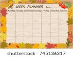 vector graphic page with... | Shutterstock .eps vector #745136317