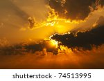 sunset | Shutterstock . vector #74513995