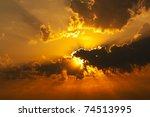 sunset | Shutterstock . vector #74513995