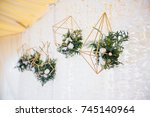 wedding in a tent. decoration... | Shutterstock . vector #745140964