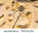 aerial view of sandpit and... | Shutterstock . vector #745141351