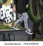 milan  italy   september 28 ... | Shutterstock . vector #745143955