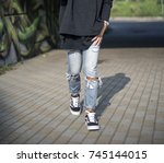 milan  italy   september 28 ...   Shutterstock . vector #745144015
