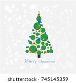 abstract christmas tree card | Shutterstock .eps vector #745145359