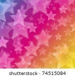 Glow Star Background   Eps10