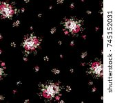 flowers pattern..for textile ... | Shutterstock . vector #745152031