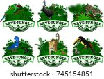 set of vector illustrations... | Shutterstock .eps vector #745154851