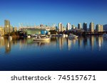 vancouver at sunrise  british... | Shutterstock . vector #745157671