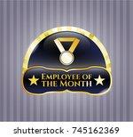 golden emblem or badge with...   Shutterstock .eps vector #745162369