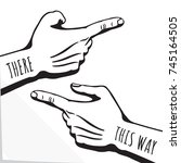 hands with pointing finger and... | Shutterstock .eps vector #745164505