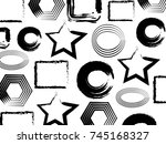 abstract geometrical background.... | Shutterstock .eps vector #745168327