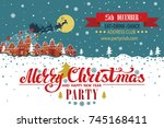 christmas party invitationcard... | Shutterstock .eps vector #745168411