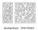 set pattern geometric ornament. ...   Shutterstock .eps vector #745170361