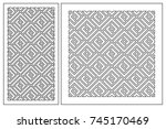 set pattern geometric ornament. ...   Shutterstock .eps vector #745170469