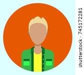 avatar profile icon male... | Shutterstock .eps vector #745172281