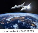 concept of a futuristic... | Shutterstock . vector #745172629