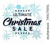 ultimate christmas sale banner... | Shutterstock .eps vector #745175551