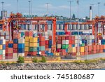 sea containers | Shutterstock . vector #745180687