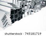 cylindrical metal steel...   Shutterstock . vector #745181719