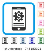 mobile bank options icon. flat...   Shutterstock .eps vector #745183321