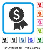 featured price tag icon. flat... | Shutterstock .eps vector #745183981