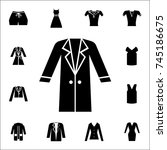 woman coat icon. set of clothe... | Shutterstock .eps vector #745186675