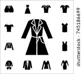 woman coat icon. set of clothe... | Shutterstock .eps vector #745186699