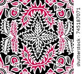 seamless batik pattern for...   Shutterstock . vector #745187071