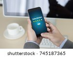 online reviews evaluation time... | Shutterstock . vector #745187365