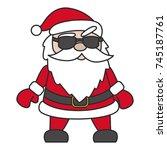 icon santa christmas cool