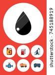 flat icon fuel set of flange ... | Shutterstock .eps vector #745188919