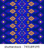 seamless abstract ethnic  ...   Shutterstock . vector #745189195