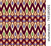 seamless abstract ethnic  ...   Shutterstock . vector #745189201