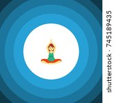isolated meditation flat icon.... | Shutterstock .eps vector #745189435