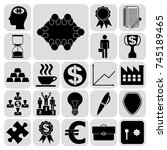 set of 22 business icons ... | Shutterstock .eps vector #745189465