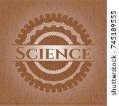 science retro wood emblem | Shutterstock .eps vector #745189555