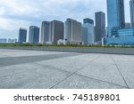 empty and modern square in... | Shutterstock . vector #745189801