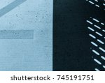 abstract shadow on concrete... | Shutterstock . vector #745191751