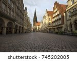 historic prinzipalmarkt in... | Shutterstock . vector #745202005