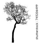 black tree silhouettes on white ... | Shutterstock .eps vector #745206499