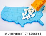 white prescription... | Shutterstock . vector #745206565